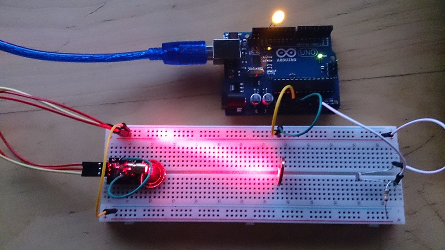 lichtschranke mit arduino uno. Black Bedroom Furniture Sets. Home Design Ideas